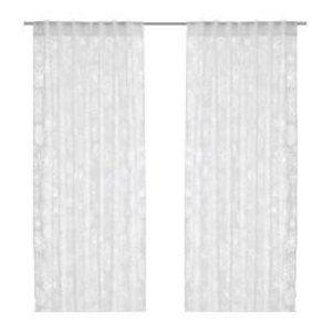 IKEA Renate LJUV Burnout Floral Sheer Curtain Emma